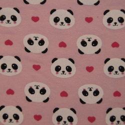 Bomull jersey mini (2cm)Panda