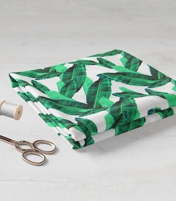 Bomull med stretch Grønne blader