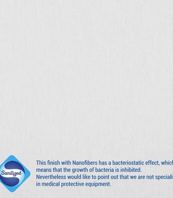 Sanitized anti-bacterial stoff hvit.