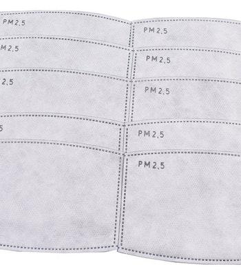 PM 2,5 carbon filter til anskitsmaske