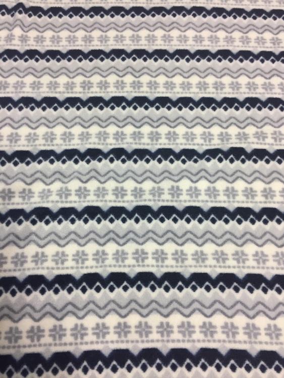 Fleece mønstrte