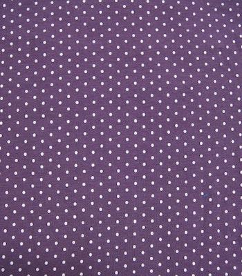 Bomull jersey lilla dots  bit 55 cm