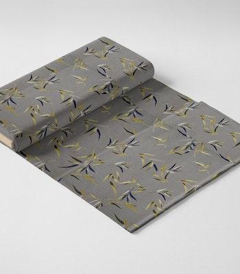 Jersey grå med blader og gull foile print
