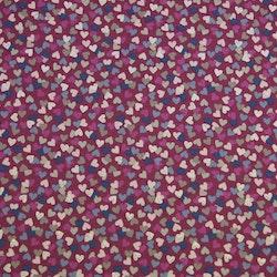 Jersey hjerter rosa med glitter