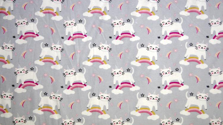 jersey katt med regnbue