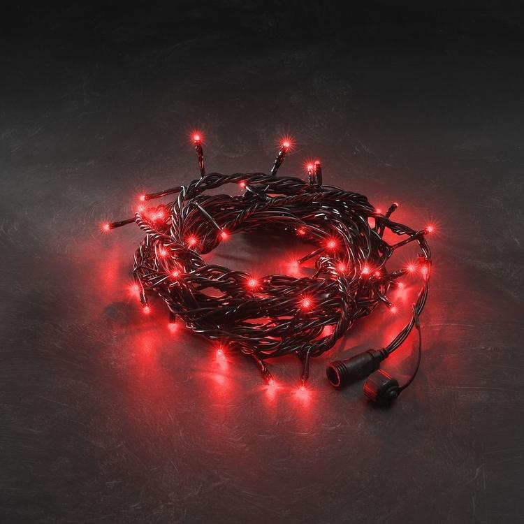 Konstsmide 31V System Ljusslinga 5m, Röd, svart kabel