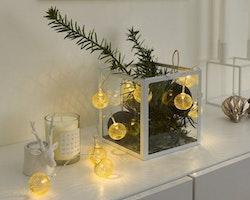 Konstsmide ljusslinga, LED bollar, Batteri, Guld