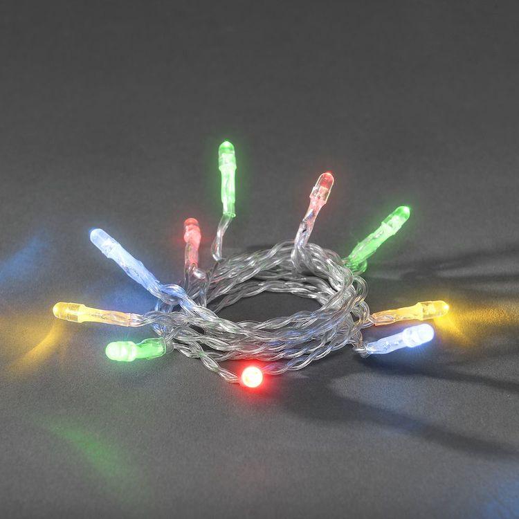 Konstsmide ljusslinga, Batteri, Olika längder, Flerfärgad