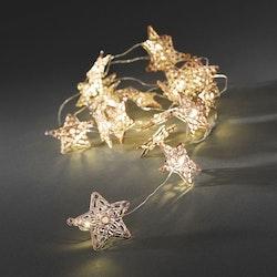 Konstsmide, ljusslinga, Stjärna, Batteri, Koppar