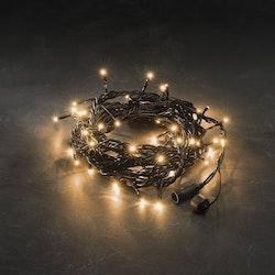 Konstsmide 31V System Ljusslinga 5m, Amber, svart kabel