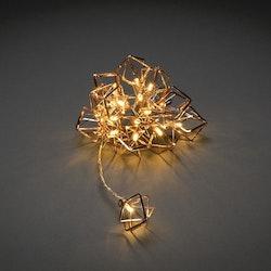 Konstsmide 3m ljusslinga, 16 Metalldekorationer, Koppar
