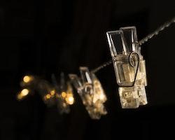 Konstsmide 3m ljusslinga 12 Fotoklämmor