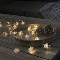 Konstsmide, ljusslinga, Stjärna, Batteri, Guld
