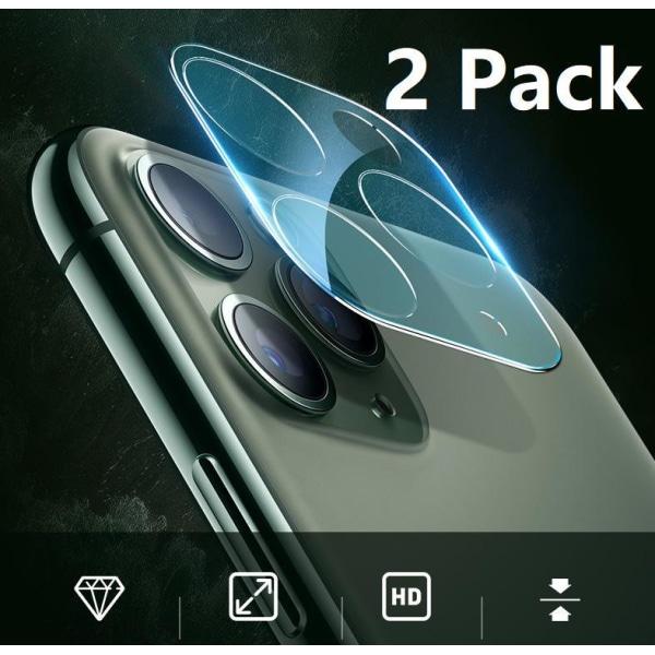 2 Pack iPhone 11, Kamera Härdat Glas Skärmskydd Till iPhone 11