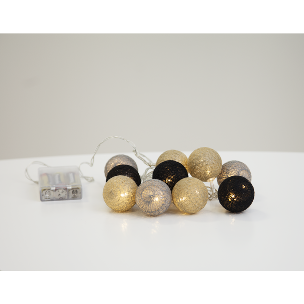 Star Trading, Ljusslinga Jolly Light mini, Svart - grå - beige