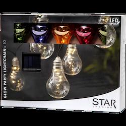 Star Trading, Ljusslinga Glow flerfärgad, Solcell