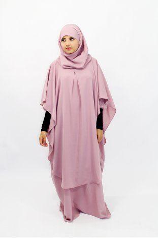 Abaya Khaleej + long khirma med integrerad hijab