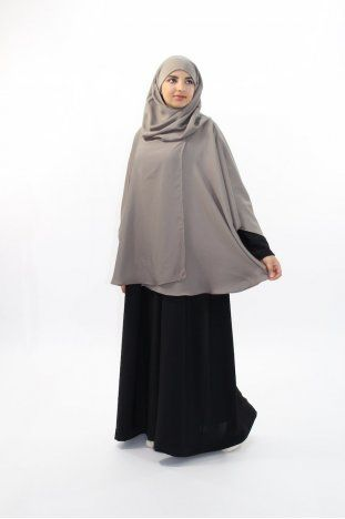 Cape/poncho med integrerad hijab