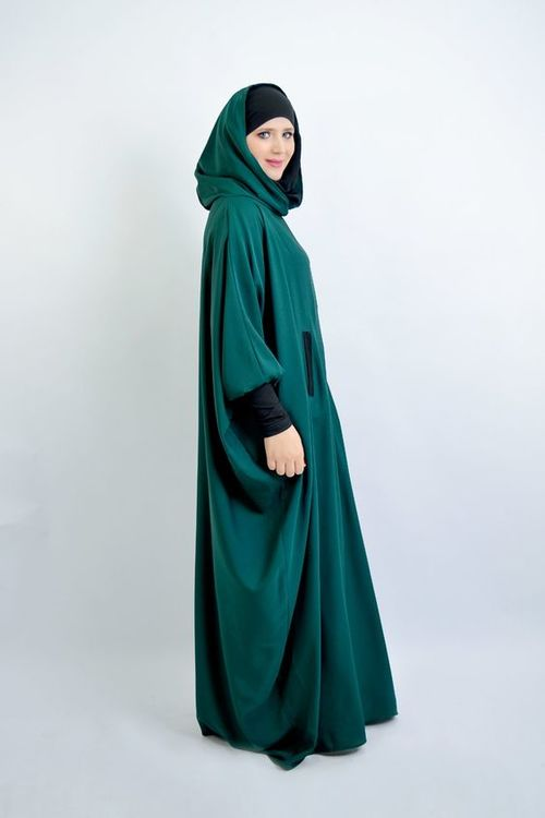 Abaya young med integrerad hijab med huva