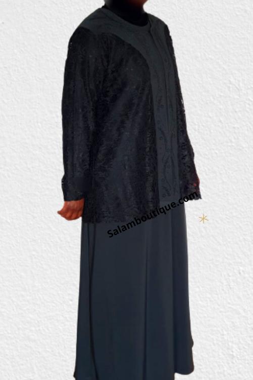Abaya 2 pcs-Lace - AL2
