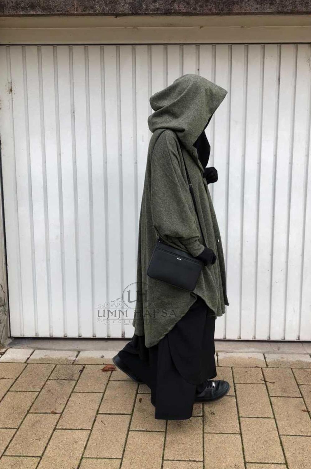 Cape vest för jilbab-Um Hafsa