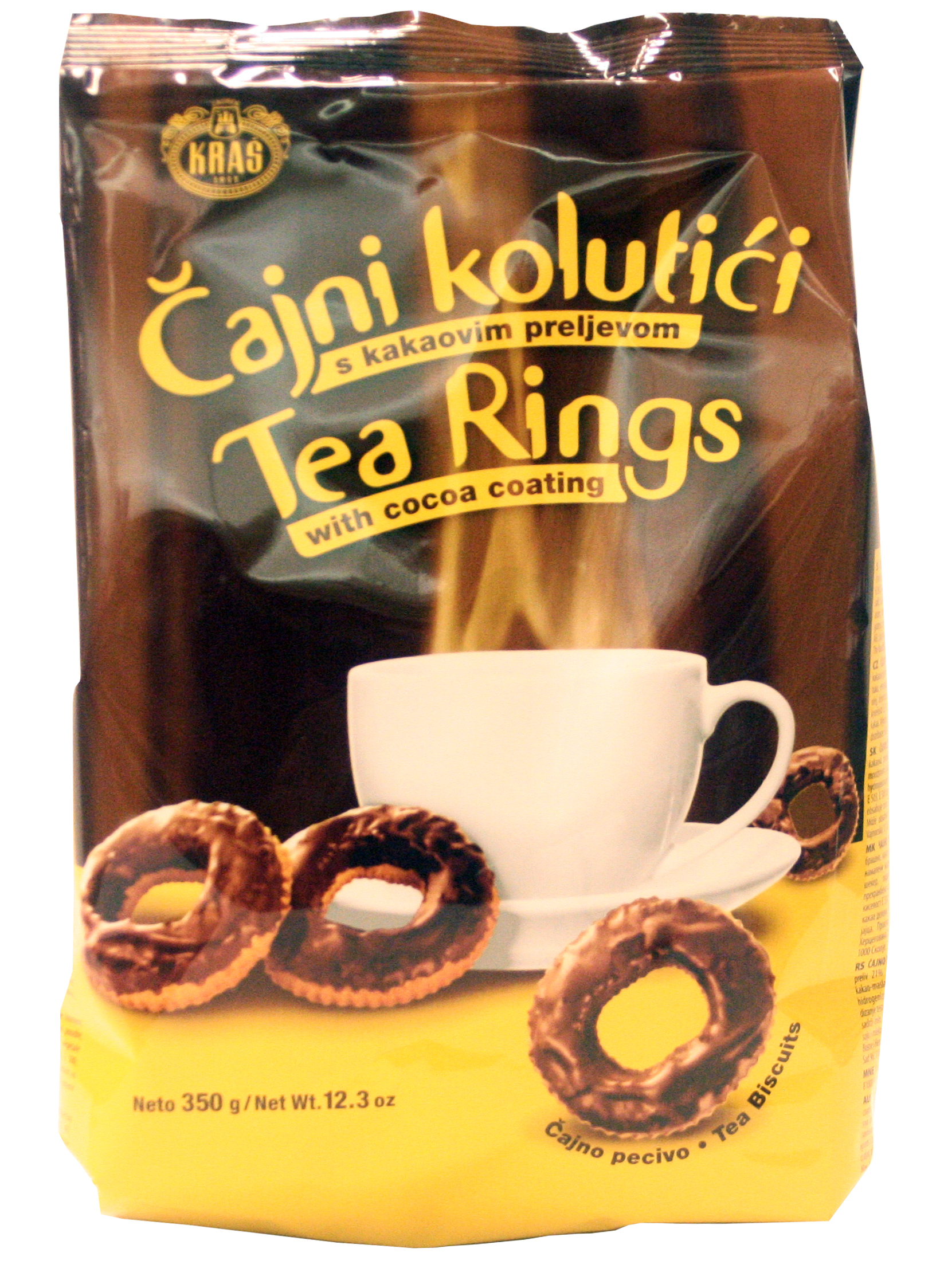 Söta kringlor med kakaoglasyr som passar perfekt för testunden. Produkt från Bosnien.