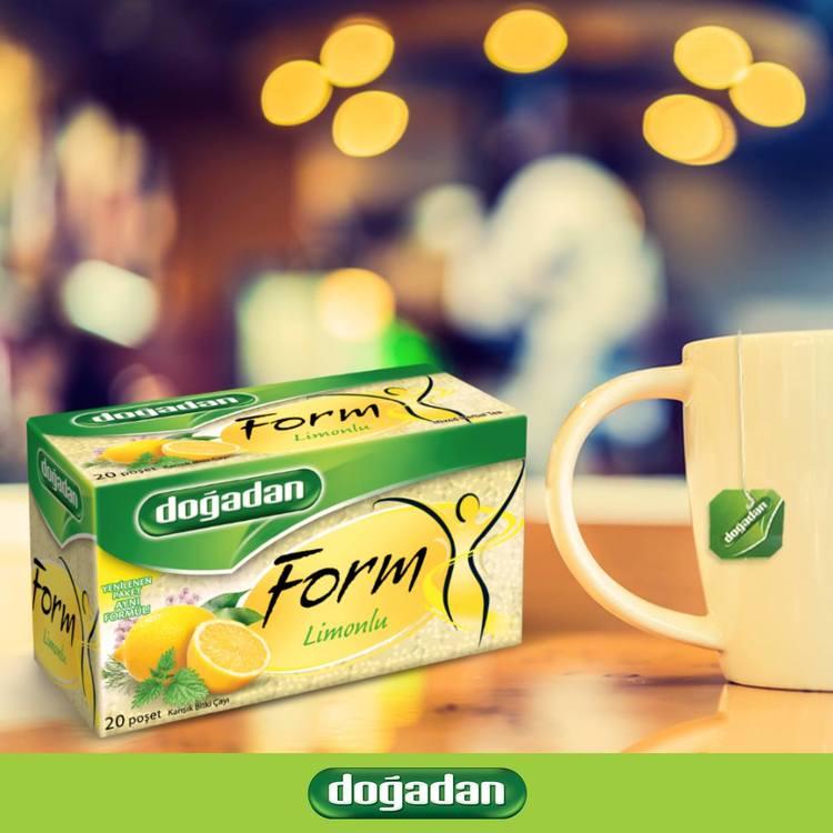 I Form te - Blandat örtte med citronsmak. 20 st goda tepåsar.