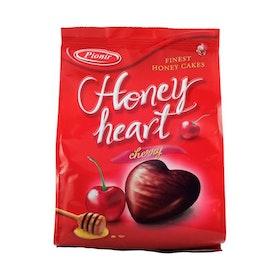 Honungskaka med körsbär