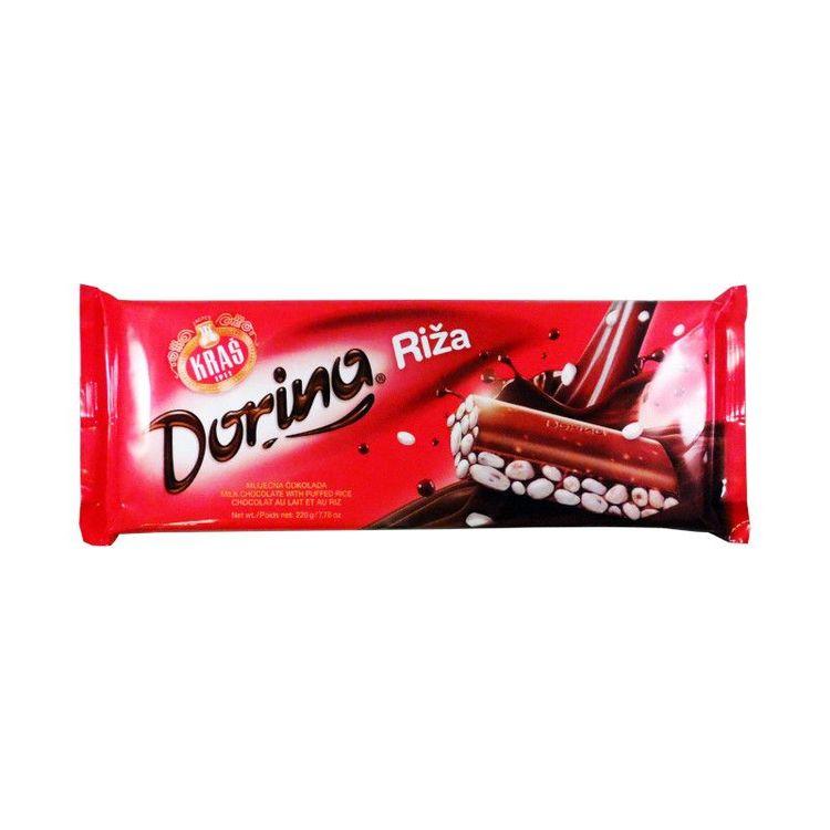 Rischoklad-dorina Supergod choklad med poppat ris, som bara smälter i munnen. Chokladen har en härligt krämig smak tillsammans med det poppade riset blir verkligen en höjdare! Kids Love it!