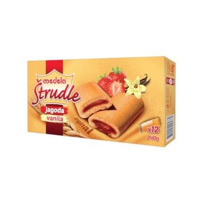 Strudel kakor-jordgubb