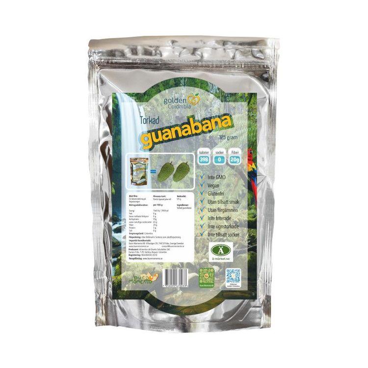 Torkad Guanabana Frukten växer vilt i tropiskt klimat i Mellan och Sydamerika. Förekomsten av frukten är hög i Colombia eftersom 42% av landet är täckt av regnskog. Trädet bär frukt mellan december oc