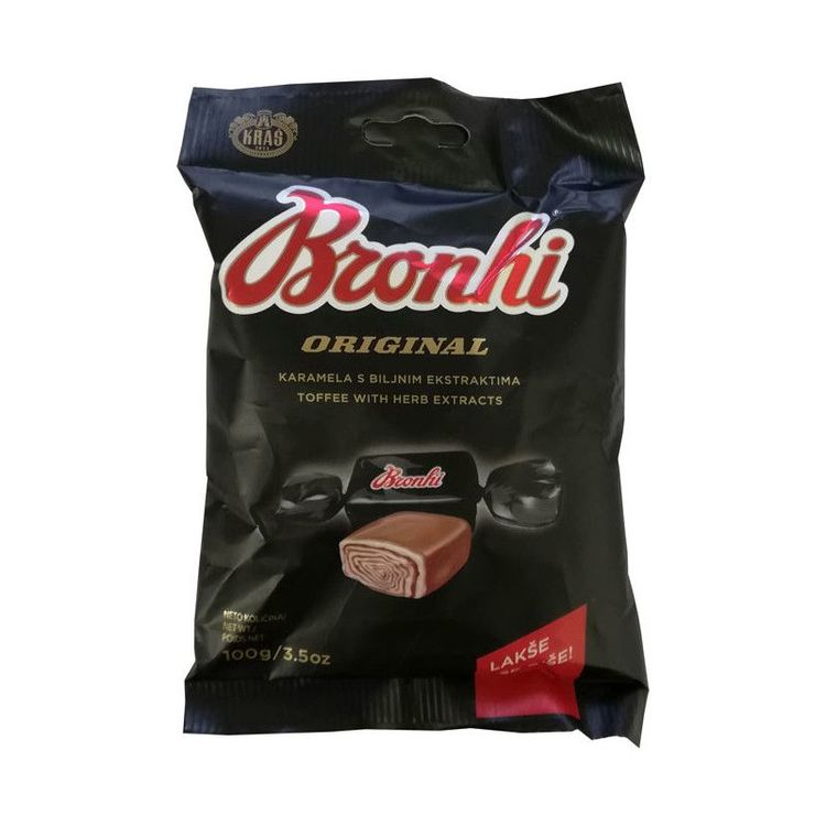 Bronhi godiskola med örttextrakt Toffee ifrån Croatien, fantastiskt god med en ton av lakrits. Gott till närsom!