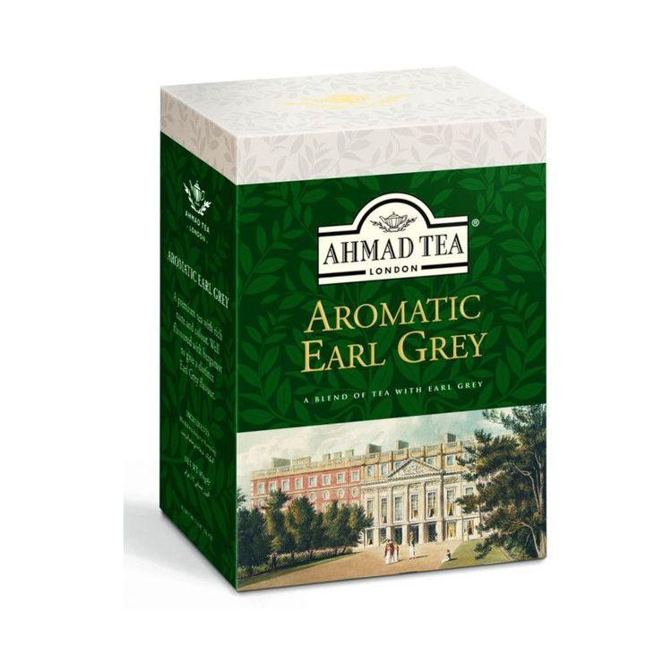 Ahmad Tea aromatisk earl grey te Ahmad tea Earl Grey är en blandad blandning av Ahmad tea's finaste tear, lätt doftat med den eleganta smaken av bergamott. Detta ger den det aromatiska, uppfriskande k