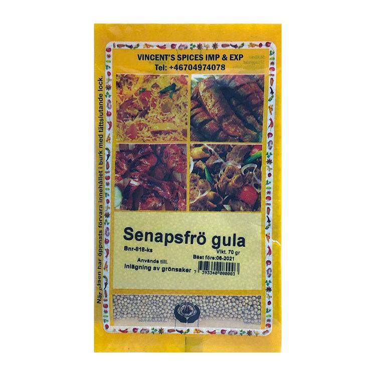 Gula senapsfrön hela 70g