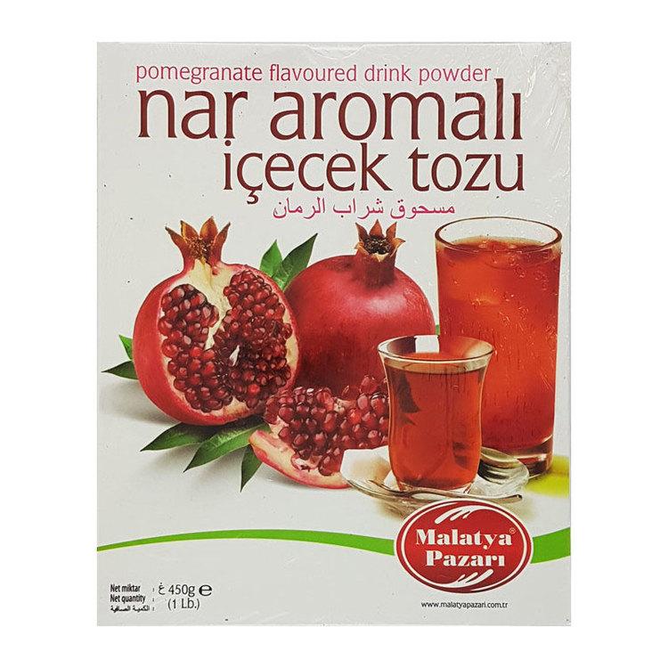 Granatäppel te Instant dryck med granatäpple arom. Pulver för varm eller kall dryck med granatäpplesmak.