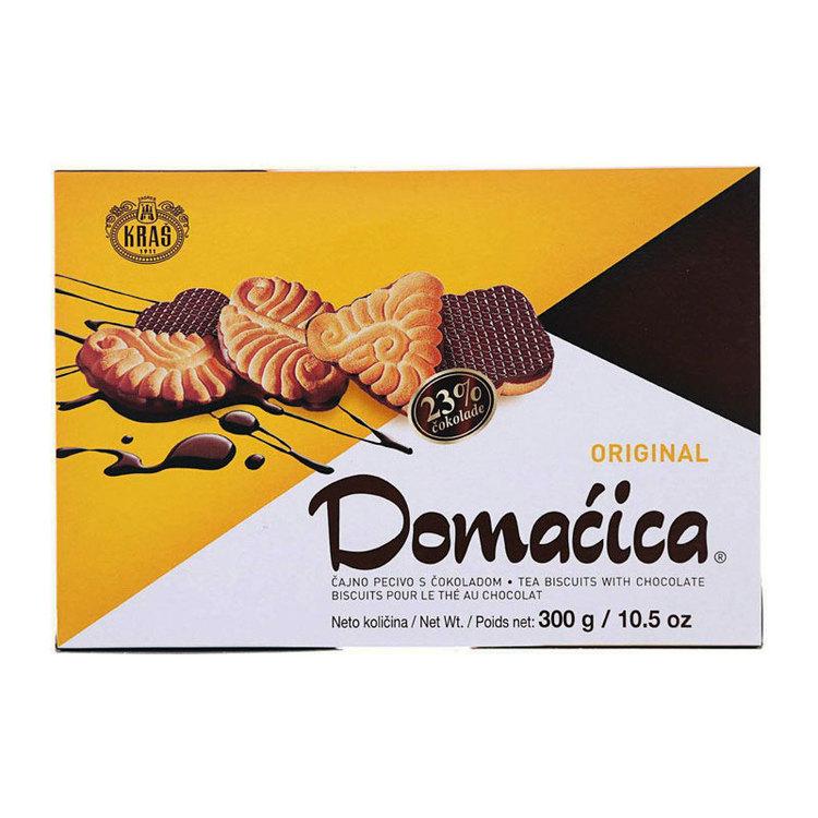 Kras blandade chokladöverdragna kakor och kex med något som passar för alla. 23% choklad.