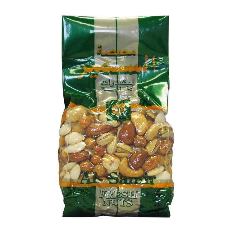 Blandade nötter vakuumpackade Ingredienser: cashewnötter, mandel, pistagenötter, hasselnötter, jordnötter, pumpafrön, kikärter, belagda jordnötter, majs, stärkelse, glukos, vetemjöl, socker, citronsyr