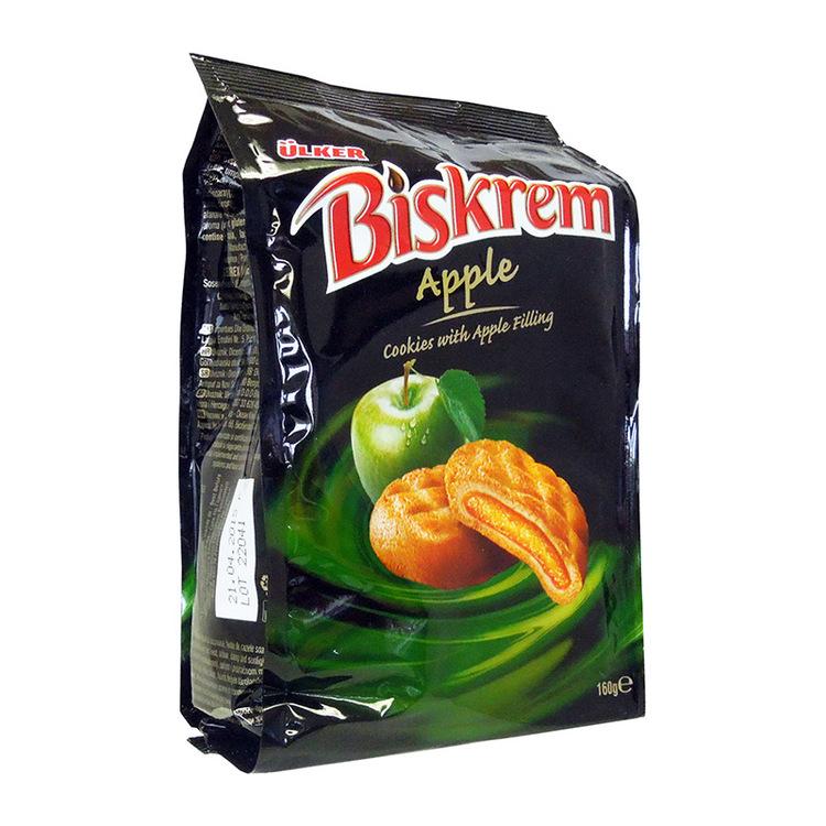 Biskrem Äpple Läckra kakor med krämig fyllning av chokladkräm. Produkt från Turkiet.
