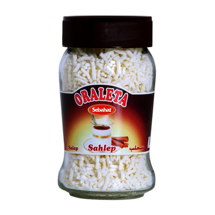Sahlab Instant dryck Salep, sahleb eller sahlab (kanelarom). En mjölkaktig dryck med kanel och ingefära smak. Drycken anses bland annat vara bra mot förkylning och vinterrusk.
