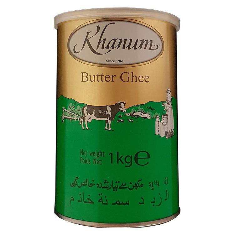 Khanum pure butter ghee passar till matlagning, bakning och stekning. Det blir inte mörkfärgat vid upphettning och tillåter stekning vid höga temperaturer. Produkt av UK.