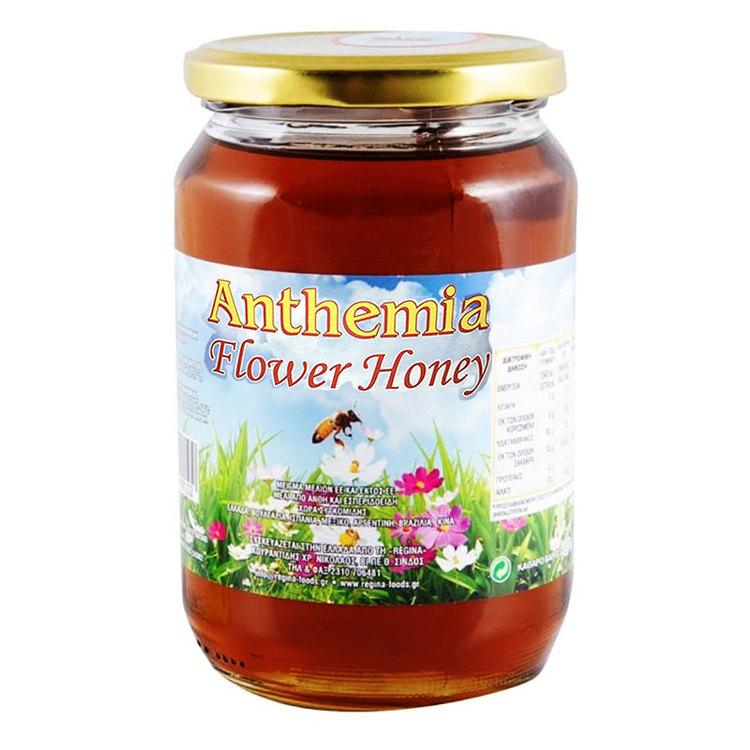 Grekisk Blomsterhonung - Den grekiska Anthemia-honung är framställd av blommor och citrusfrukter, i syfte att ge oss en unik smakkombination.