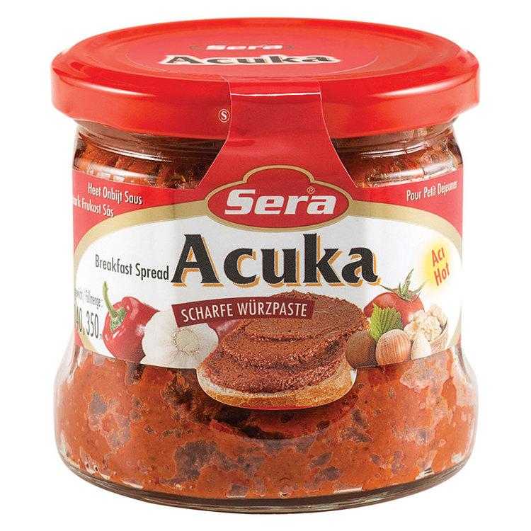Acuka - Stark Bredbart medelhavspålägg - Acuka är en klassisk rätt som det finns många olika varianter av i Mellanöstern och länderna runt Medelhavet. Just dessa med namnet Sera har turkiskt ursprung.