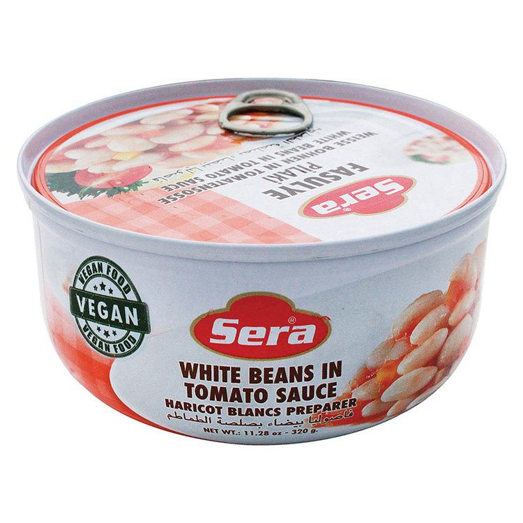Vita bönor i tomatsås är en klassisk rätt som det finns många olika varianter av i Mellanöstern och länderna runt Medelhavet. Just dessa med namnet Sera har turkiskt ursprung. Otroligt goda små munsbi