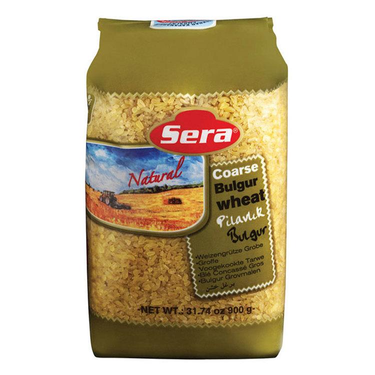 Grov malen bulgur til pilav från Sera. Produkt av Turkiet.