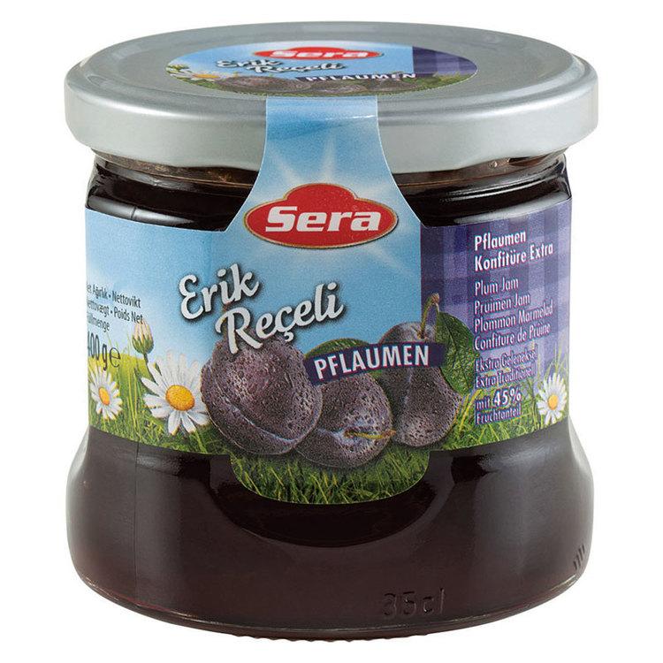 Njut av plommonmarmeladen på din smörgås eller pannkaka. Tillverkad av Turkiets mest kända varumärke; Sera. Produkt av Turkiet.