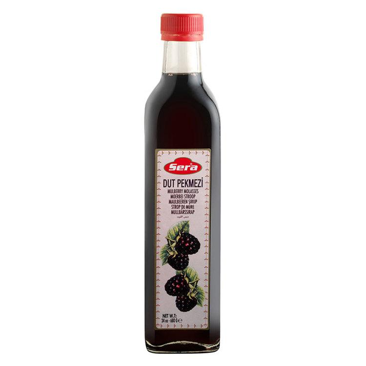 Melass med smak av svarta mullbär. 680 ml. Mullbär är rika på näringsämnen och används ofta för att upprätthålla kroppens blodsockerbalans.