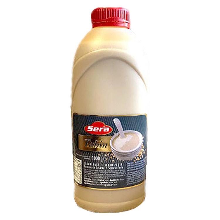 Tahini är en puré gjord av sesamfrön och används bland annat till att göra hummus. Produkt från Turkiet. Förvaras svalt efter öppnande.