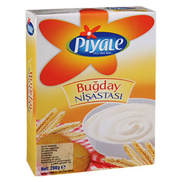 Vetestärkelse (Bugday nisastasi) är ett mjöl och används för att förbättra konsistensen i såser och bakverk.