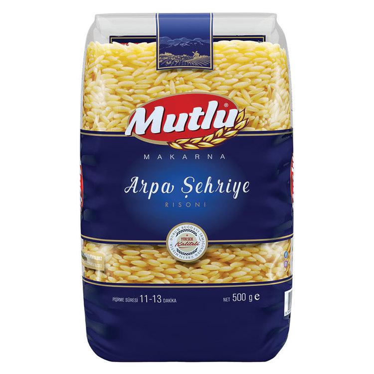 Mutlu Pasta är framställd av utvald grovkornad hård durumvete semolina enligt de italienska normerna. Pasta som produceras med denna typ av semolina har en fast (Al Dente) struktur, högsta kvalitet i