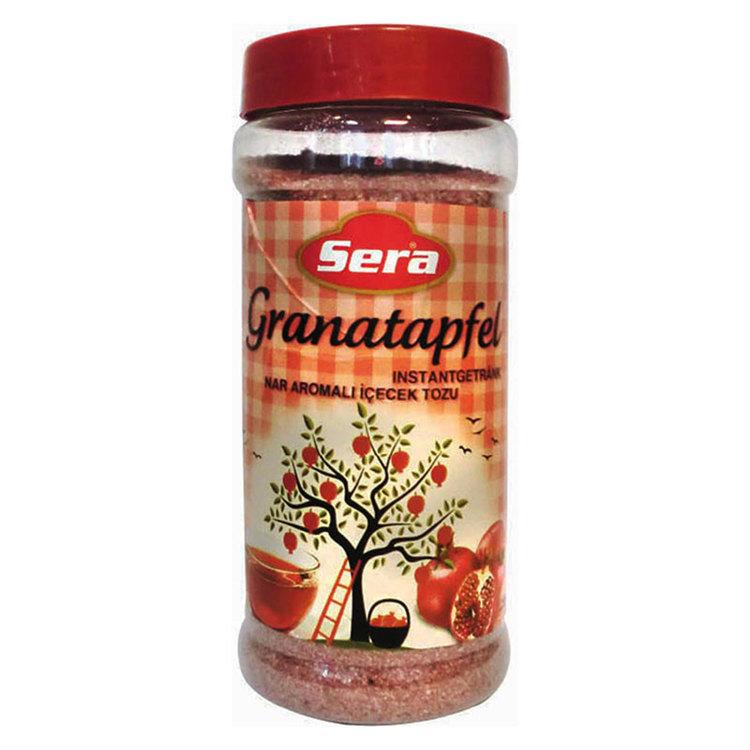 Instant dryck med granatäpple arom. Pulver för varm eller kall dryck med granatäpplesmak.